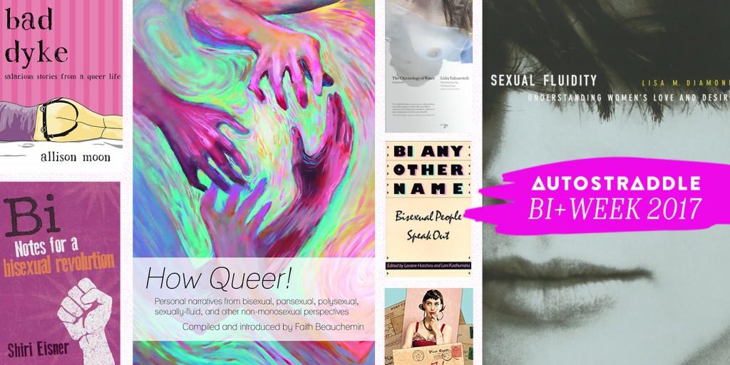 Autostraddle Bi+ Week 2017 Books Collage