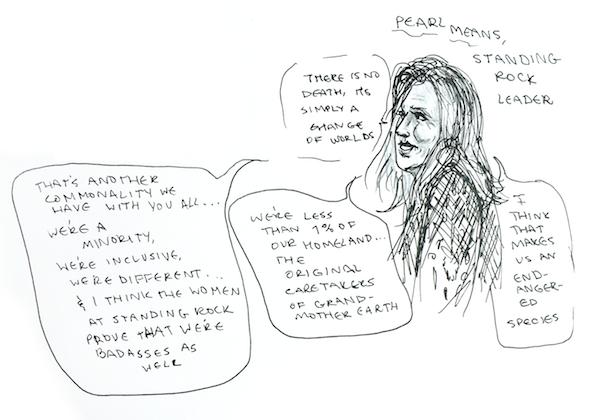 Illustration of Pearl Means by Raquel Breternitz