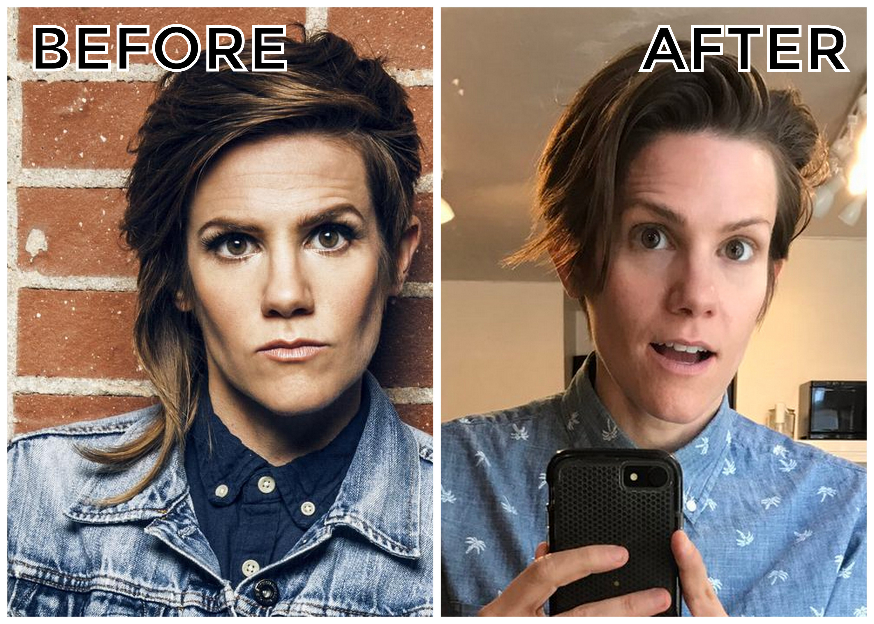 breaking: cameron esposito cuts off half of her iconic alternative