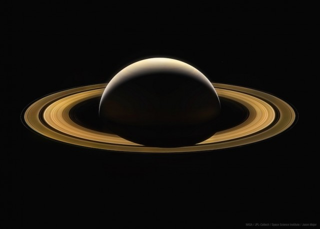 Here's a mosaic of Saturn made from raw images acquired by Cassini on Sept. 13, 2017, as it was on its way toward its dive into the planet's atmosphere. These images are uncalibrated for color but were acquired in visible-light RGB filters. The mosaic comprises 11 color composites, each a stack of three images taken in red, green, and blue channels. They were adjusted for brightness and color to be fairly uniform across the whole view. This will be our last close-up image of Saturn for a long time. Credit: NASA/JPL-Caltech/Space Science Institute/Jason Major