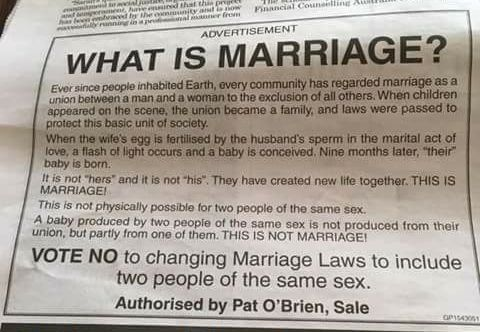Conservative newspaper ad