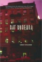 "Books with lesbian sex: Cover art of Sarah Schulman's ""Rat Bohemia,"""