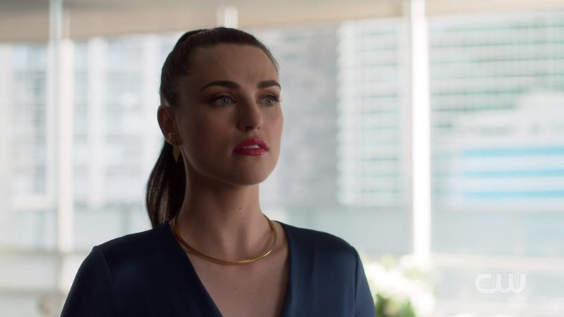 Lena looks wistfully after Kara