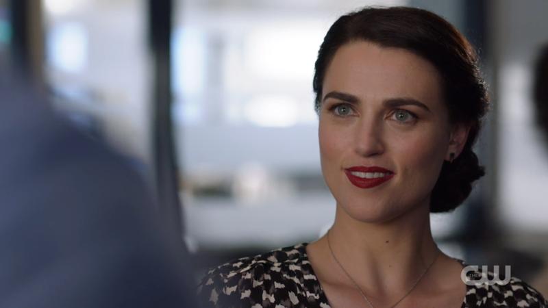 Lena sort of smirks at James