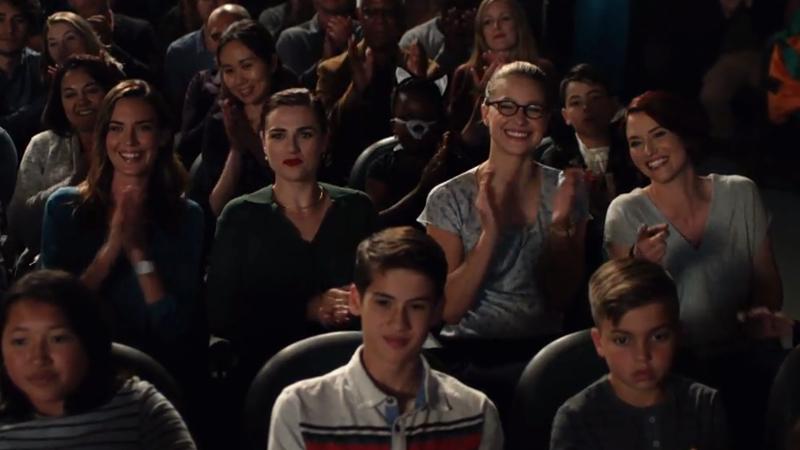 Sam, Lena, Kara and Alex watch the talent show
