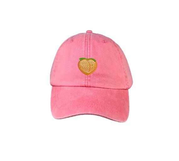 Peach Emoji Embroidered Dad Hat 0db8e1446a1c
