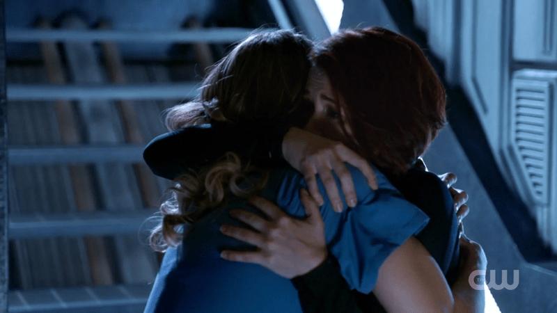 Alex hugs Kara