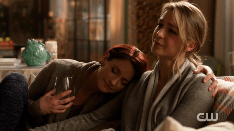 Alex cuddles with Kara