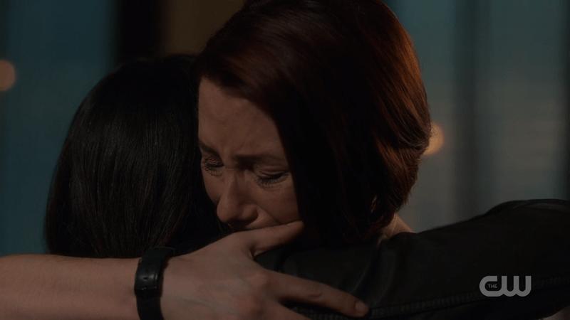 Alex hugs Maggie tight