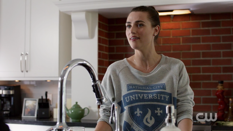 Lena looks casually stunning in her crew-neck