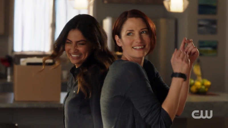 Maggie and Alex dance around the apartment