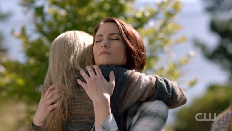 Alex hugs Eliza with all her might
