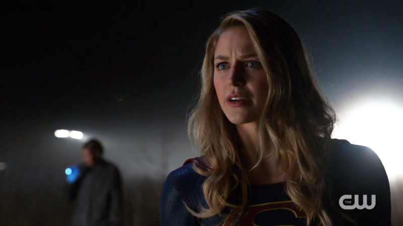 Supergirl has perfect hair and also a concerned face