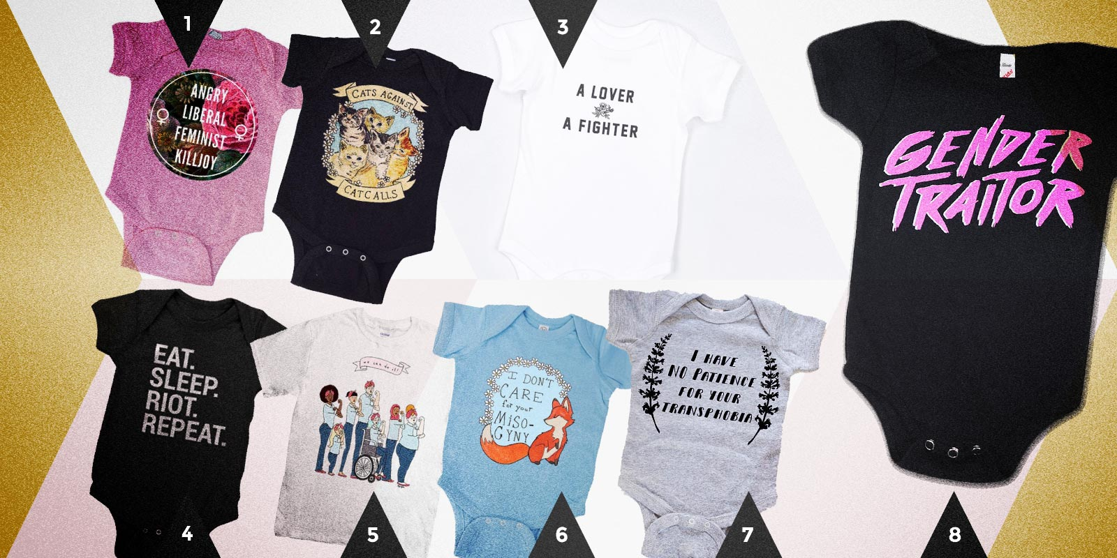 Autostraddle Gift Guide: Badass Baby Onesies