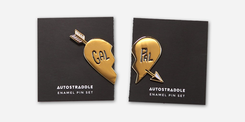 Autostraddle Merch Gal Pal Pin Set