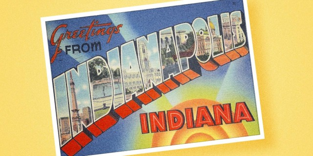greetings from Indianapolis Indiana Postcard