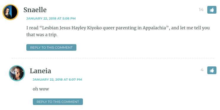 """I read """"Lesbian Jesus Hayley Kiyoko queer parenting in Appalachia"""", and let me tell you that was a trip."""