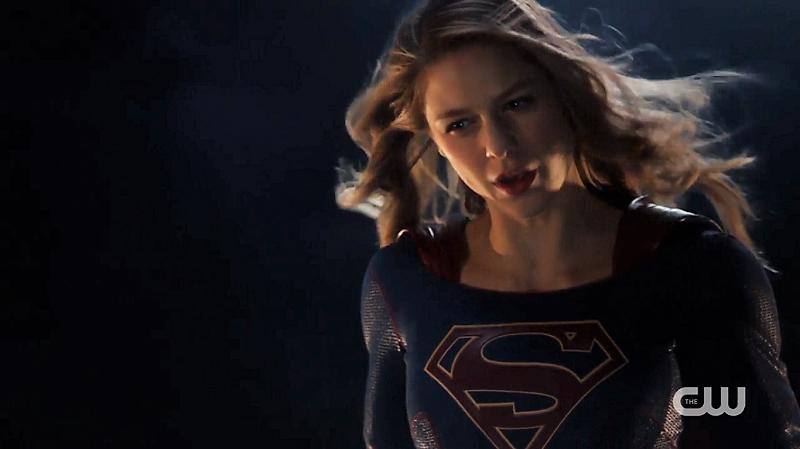 Supergirl flies up, she has risen