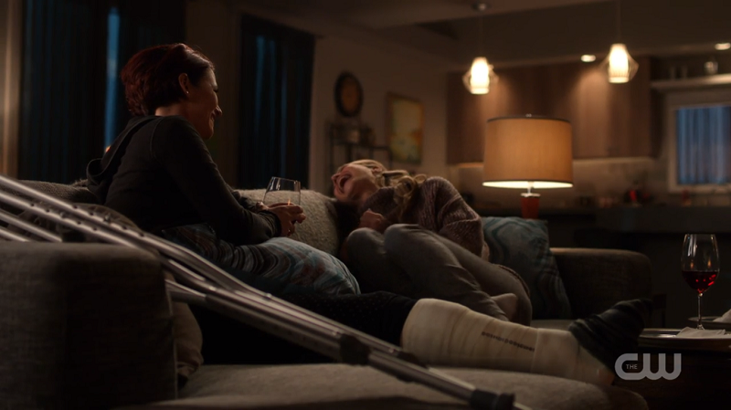 The Danvers sisters laugh together
