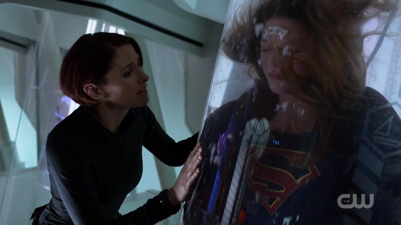 Alex talks to Kara's healing pod
