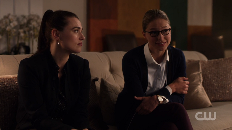 Lena watches Kara reassure Sam