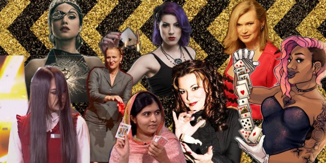 Queer Lady Magician collage
