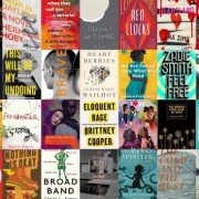 collage of the covers of queer and feminist books coming out in 2018