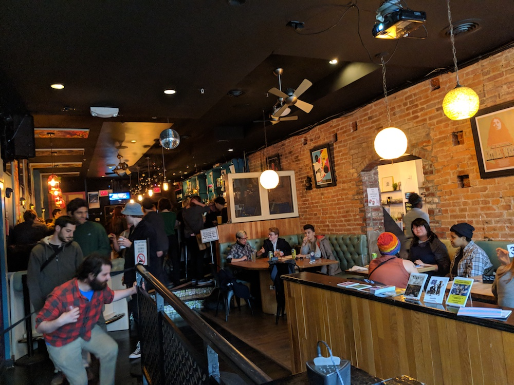 Songbyrd Music House and Record Cafe, the day of the trivia meetup