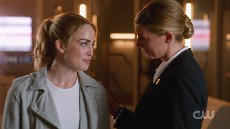Sara and Ava make eye contact and smirk at each other IT'S VERY CUTE