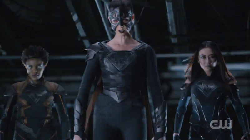 Reign, Pestilence, and Purity fly high in the sky in their cool suits
