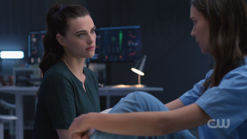 Lena stares lovingly at Sam with her impeccable bedside manner