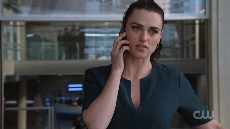 Lena is on the phone and looks good doing it