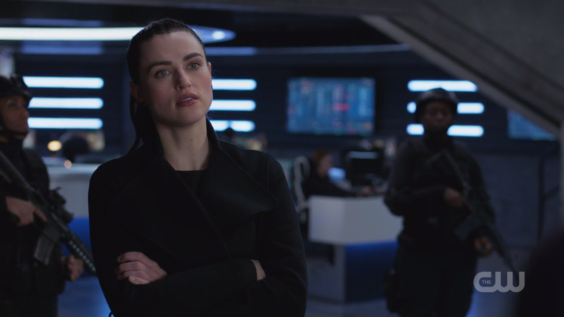 Lena crosses her arms and looks fierce