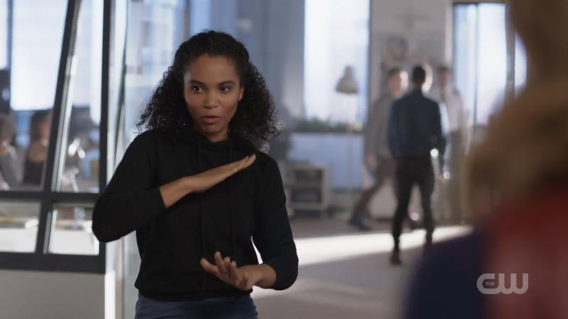 Tanya imitates karate chops it's VERY CUTE