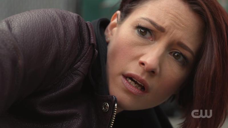 Alex looks horrified that her bike blew up