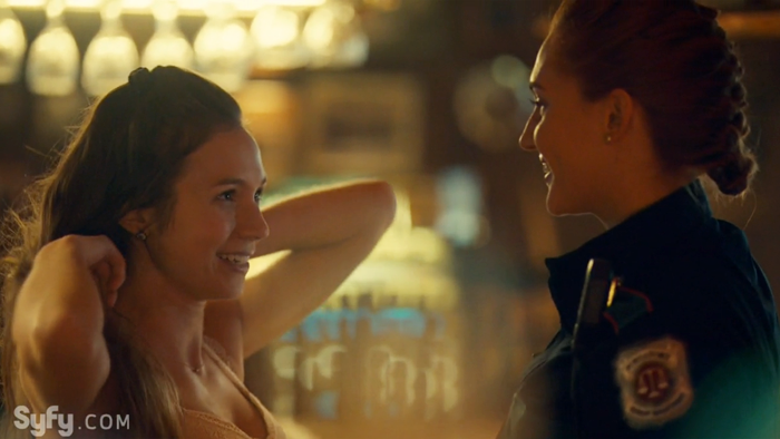 Waverly Earp meets Nicole Haught for the first time