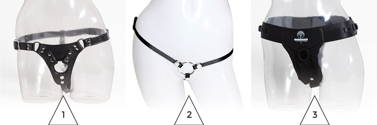 the three harness product photos