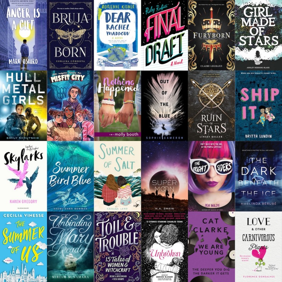 a collage of all the covers of the books mentioned in this post