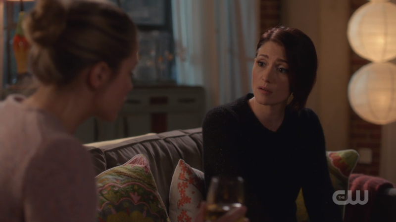 Alex tries not to look surprised by the news of Kara wanting to leave