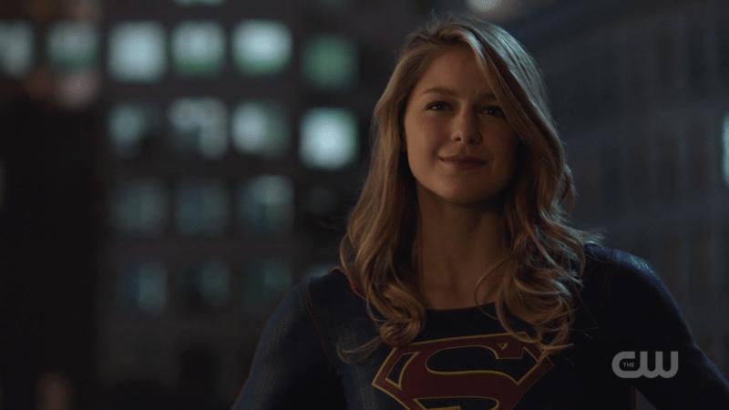 Kara smiles as she says goodbye