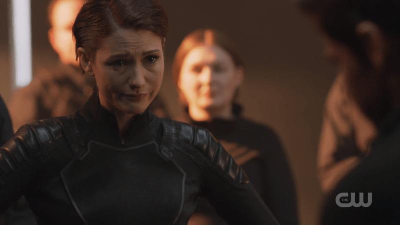 Alex looks like she's fighting back tears