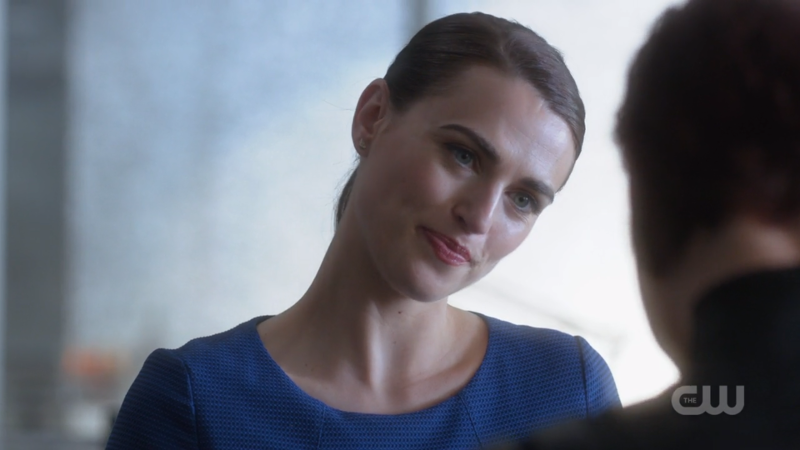 Lena smirks with her eyes and it's sexy af