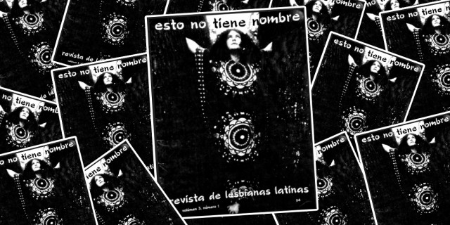 scattering of b&w zine cover — pesto no tine nombre / revisits de lesbians latinas