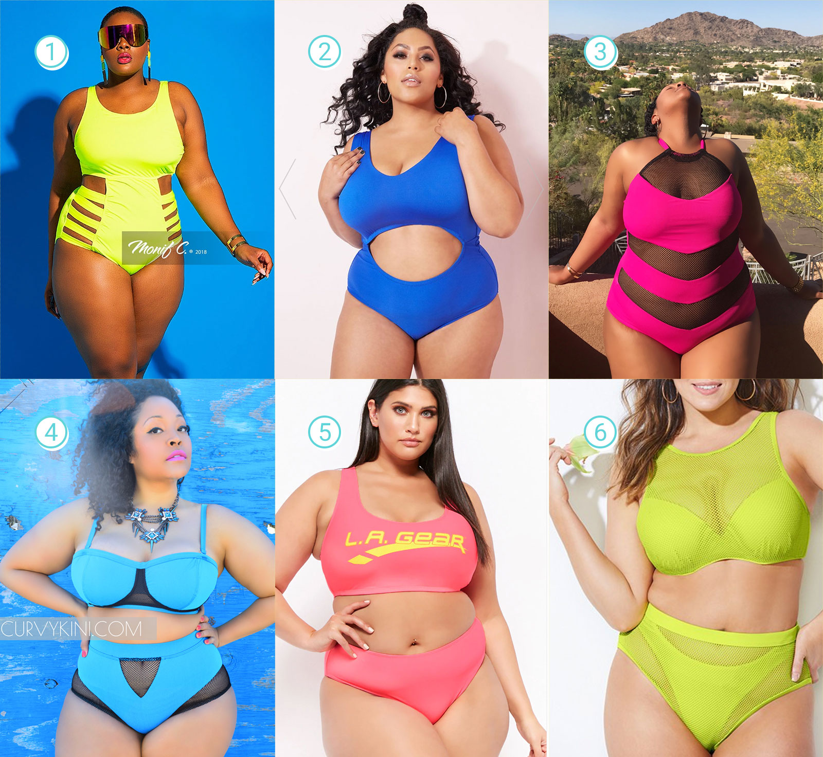 Neon Plus Size Swimsuits Guide