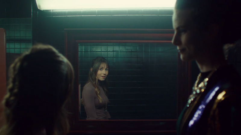 Waverly looks in the mirror and notices Petra has no reflection