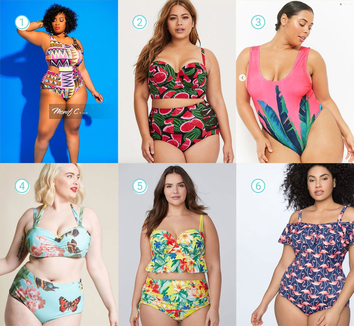 Tropical Prints and Patterns Plus Size Swimsuits Guide
