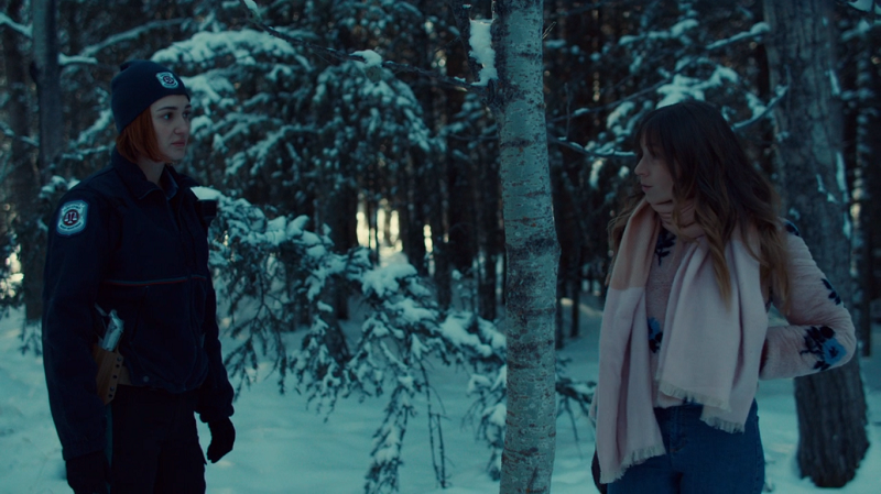 Waverly and Nicole in the woods