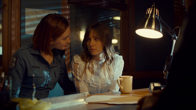 Nicole looks lovingly at Waverly
