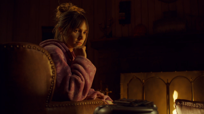 Waverly listens by the fire