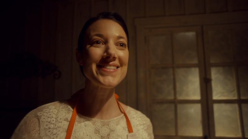 Zoie Palmer as Jolene looks wild-eyed
